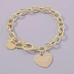 ✨Gold Heart Charm Bracelet🥂✨
